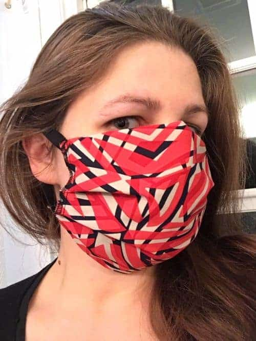 reusable cotton face masks and doctor nurse hats